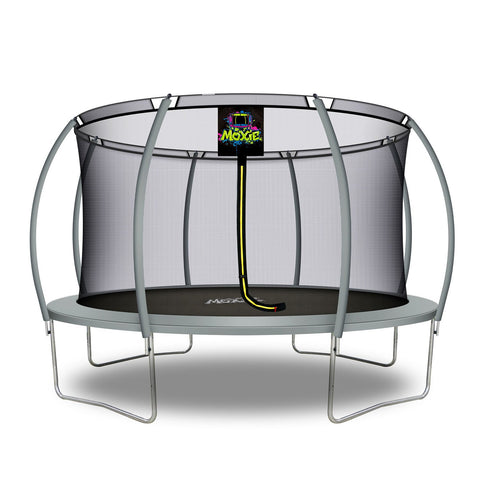 Moxie™ 14 FT Pumpkin-Shaped Outdoor Trampoline Set with Premium Top-Ring Frame Safety Enclosure