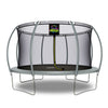 Image of Moxie™ 14 FT Pumpkin-Shaped Outdoor Trampoline Set with Premium Top-Ring Frame Safety Enclosure