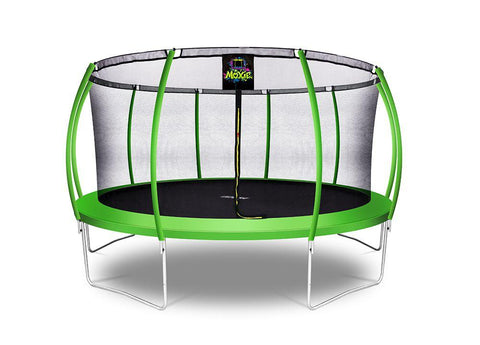 Moxie™ 15 FT Pumpkin-Shaped Outdoor Trampoline Set with Premium Top-Ring Frame Safety Enclosure