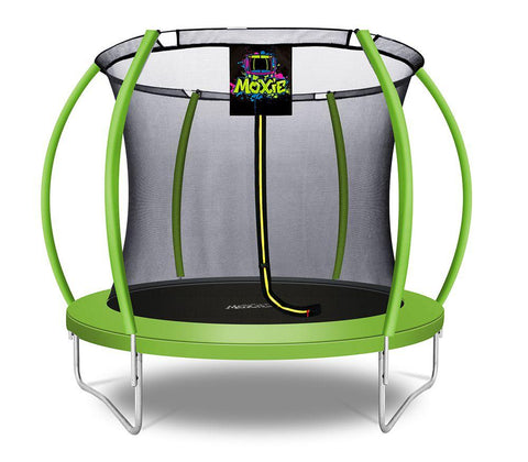 Moxie™ 8 FT Pumpkin-Shaped Outdoor Trampoline Set with Premium Top-Ring Frame Safety Enclosure