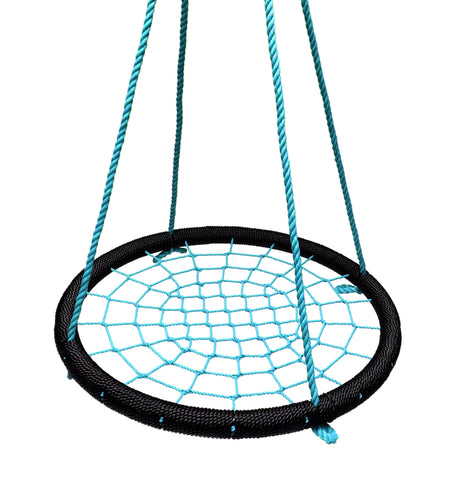 "Giant 40"" Net Tree Swing, Black and Blue by SkyBound"
