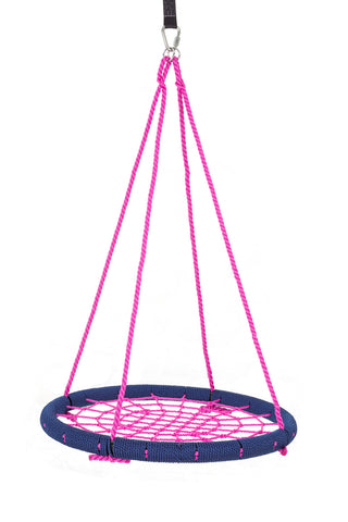 "SkyBound USA Trampolines Giant 40"" Net Tree Swing, Navy Blue and Hot Pink"