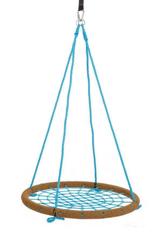 "SkyBound USA Trampolines Giant 40"" Net Tree Swing, Tan and Sky Blue"