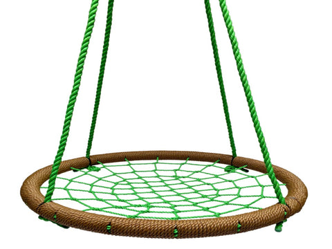 "SkyBound Trampolines Giant 40"" Net Tree Swing, Brown and Forest Green"