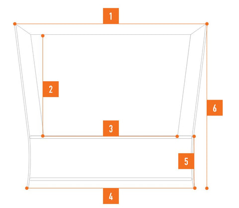 diagram for the Vuly Lift Pro Next Generation Trampoline -Previously The Vuly 2