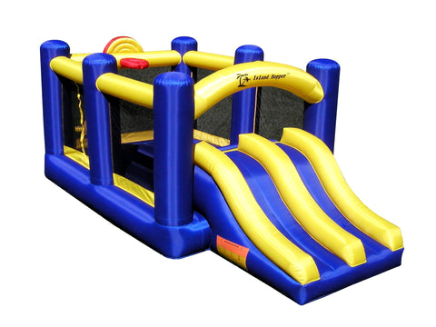 Island Hopper Racing Slide and Slam Bounce House