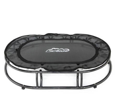 SkyBound 4ft Oval Mini Sensory trampoline without the spring pad or hand rails