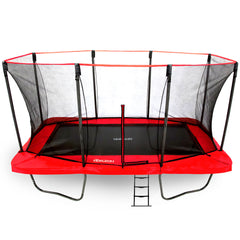 SkyBound Horizon 11 x 18 ft Rectangle Trampoline Red Spring Pad