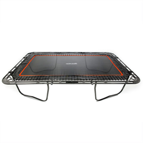 SkyBound Horizon 11 x 18 ft Rectangle Trampoline raw without enclosure or spring pad for that professional trampoline gymnastic look