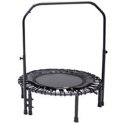 SkyBound Numbus Fitness Rebounder with hand rail and carrying case