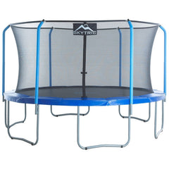 Skytric 15 foot trampoline with enclosure for max fitness and fun