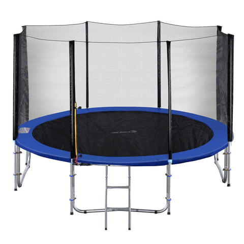 ExacMe Outdoor Trampoline 16 15 14 13 12 10 8 Foot with Outer Enclosure Net & Ladder Combo, T8-T16