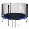 Image of ExacMe Outdoor Trampoline 16 15 14 13 12 10 8 Foot with Outer Enclosure Net & Ladder Combo, T8-T16