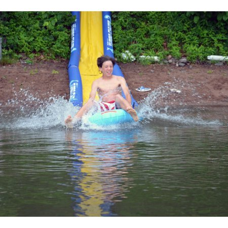The Turbo Chute Hill & Lake Water Slide 20' sliding ending in the lake