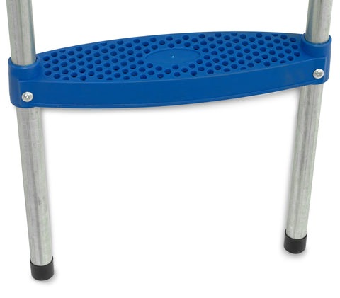 wide step trampoline ladder