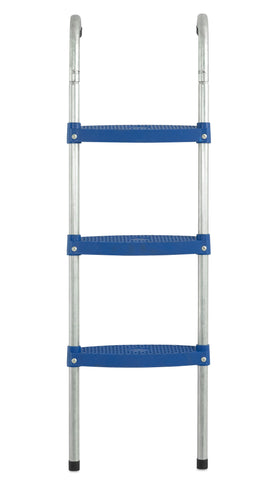 blue trampoline ladder