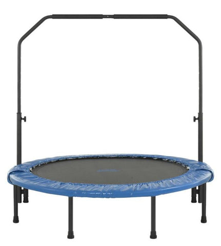 Fitness trampoline 48 Inch Foldable Mini Fitness Rebounder with Hand Rail by Upper Bounce
