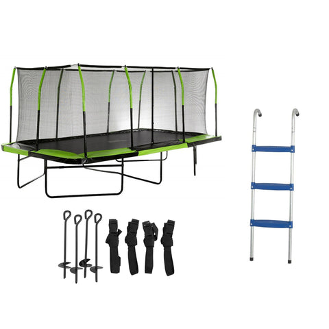 Upper Bounce 10x17 trampoline with ladder and anchor as a bundle set for sale