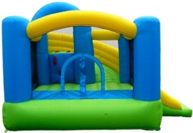 Island Hopper Curved Double Slide Inflatable Bounce House