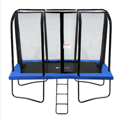 Exacme 7x10FT Rectangle Trampoline with Enclosure Net and Ladder Combo, 6184-0710B/G