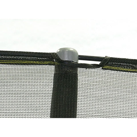 Oval 8x12ft Trampoline with Enclosure by JumpKing enclosure pole close up
