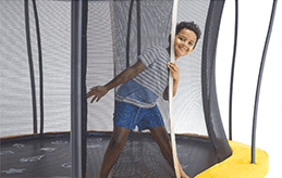 Vuly Lift Trampoline with Enclosure and Reversible Spring Pad