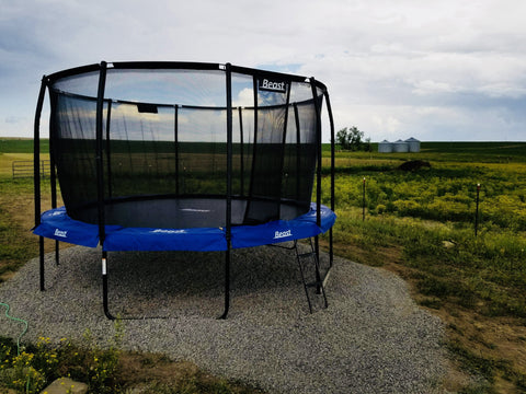 Beast 14 ft Trampoline (BLUE) with Premium Enclosure | NO WEIGHT LIMIT