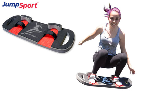 JumpSport Trampoline bounce board  girl jumping