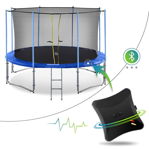 ExacMe 2019 Smart Trampoline with Inner Enclosure Net and Jumping Detector, Bluetooth Energy Calculator APP (C10-C16)