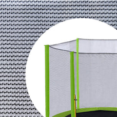 Exacme 15 FT Trampoline Replacement Net Outer Enclosure Netting with 6 Light Green Sleeves | Poles Not Included, EN015LG