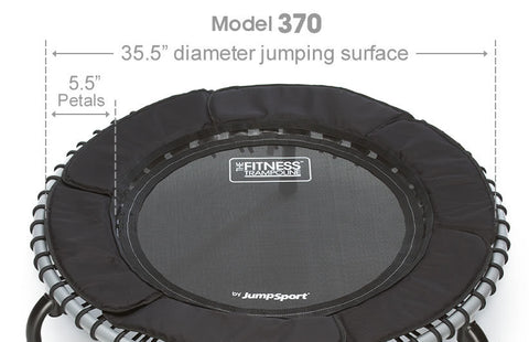 JumpSport Fitness Rebounder Trampoline Model 370 top view
