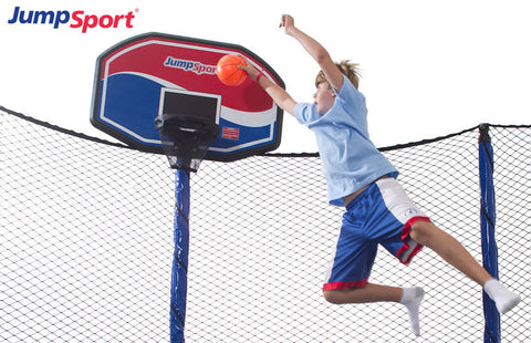JumpSport Elite ProFlex Trampoline Basketball Set