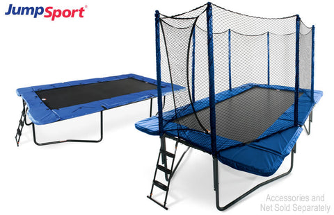 JumpSport 10'×17' RECTANGULAR TRAMPOLINE WITH ENCLOSURE