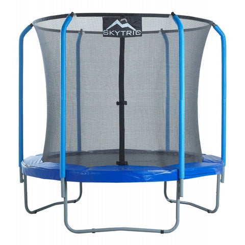 SkyTric 8ft Trampoline with Enclosure by Upper Bounce