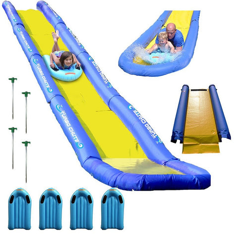 what you get Rave Sport water slide lake package