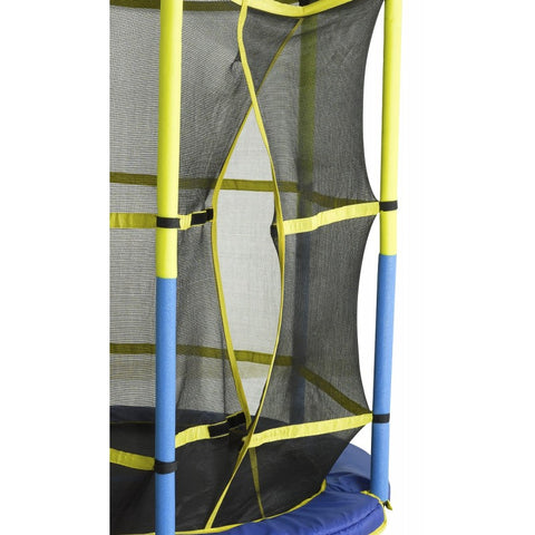 "Upper Bounce Kid friendly 55"" trampoline with enclosure Close up"