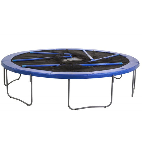 14ft Trampoline and Enclosure Combo by Upper Bounce during the winter months