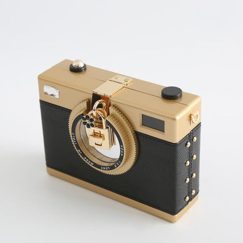 Deluxe Camera-Shaped Clutch - brownieflash