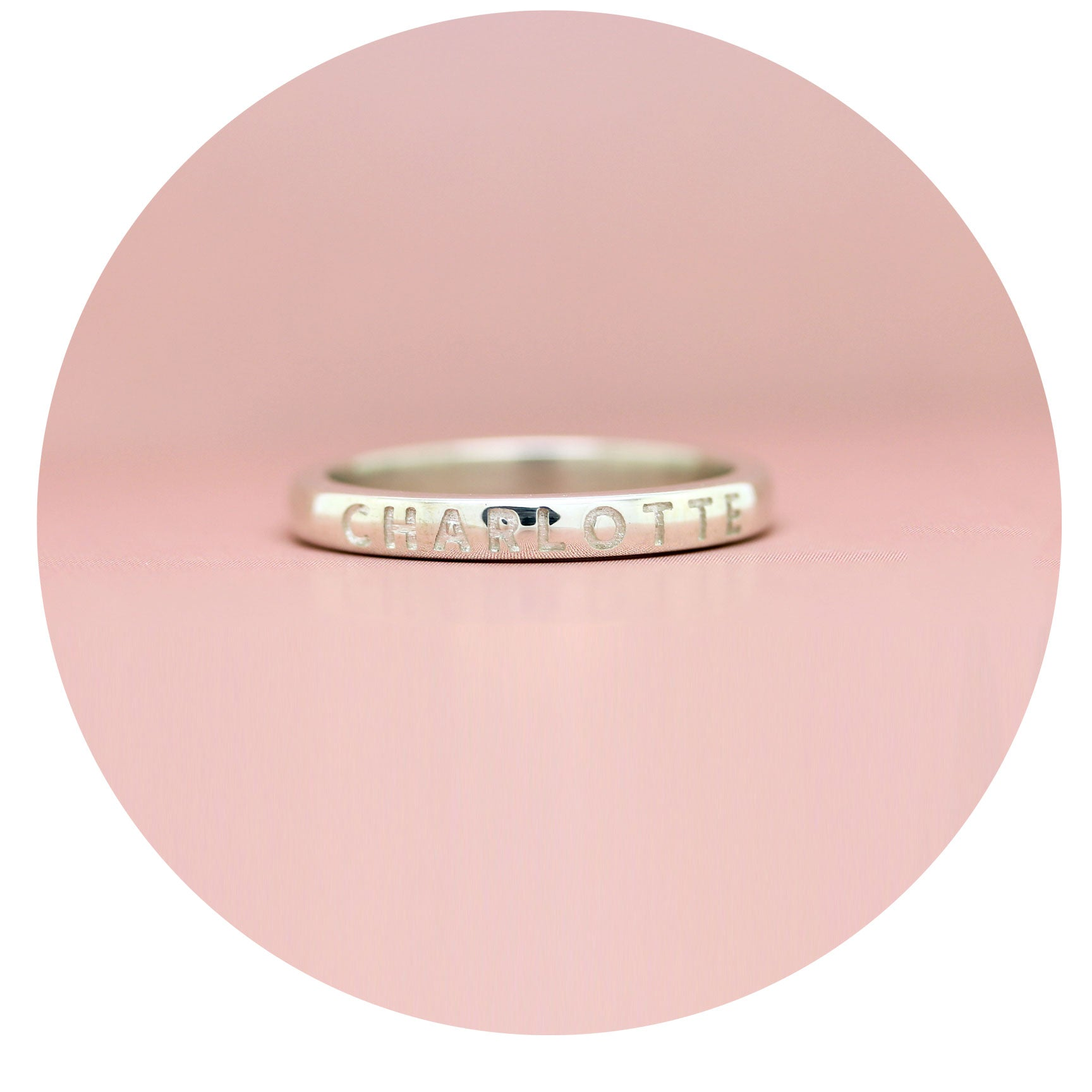 TROVE - custom name ring - 9ct yellow or rose gold