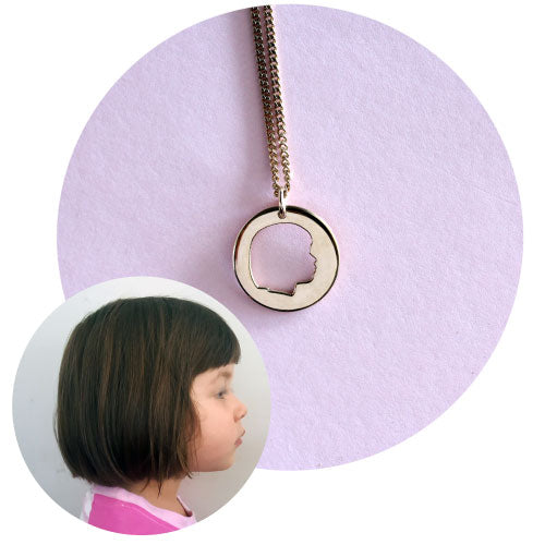 POPPET - custom silhouette necklace or pendant