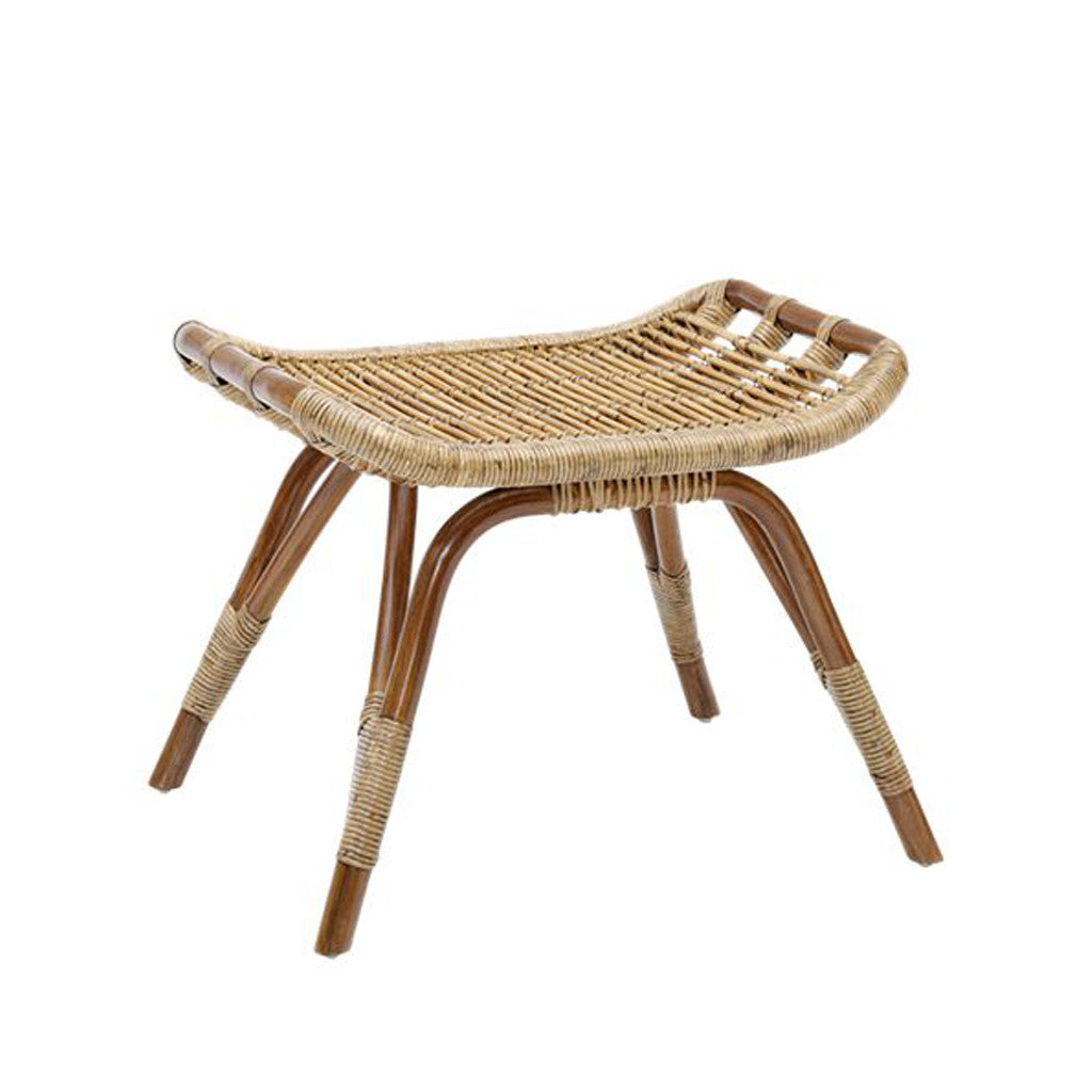 Coastal Rattan Foot Stool