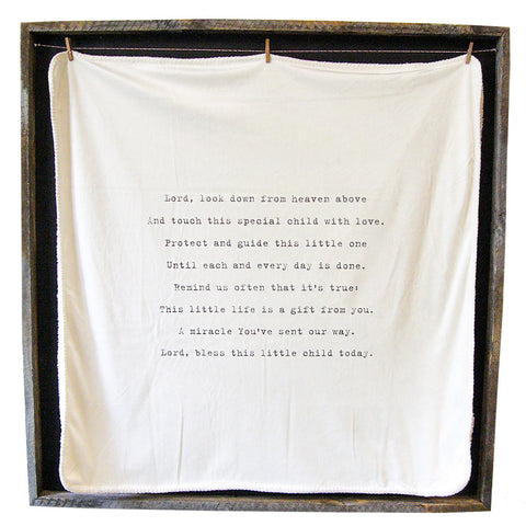 """Lord Look Down"" Baby Blanket"