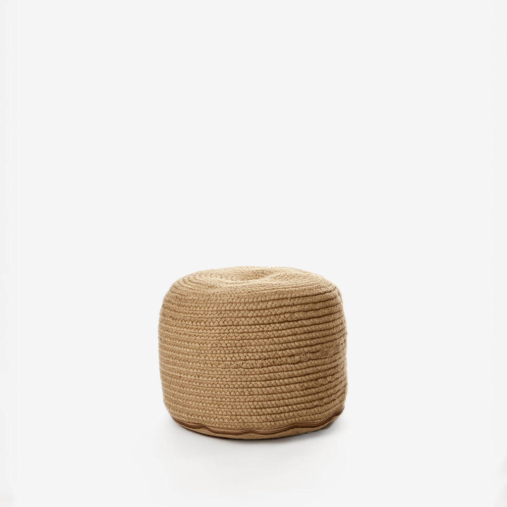 Braided Natural Pouf-3