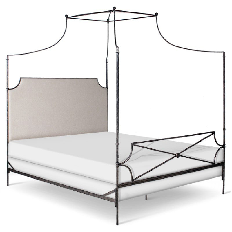 Iron Canopy Cal-King Bed-1