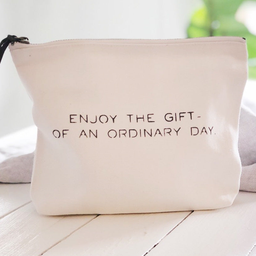 """Enjoy the gift..."" Canvas Pouch"