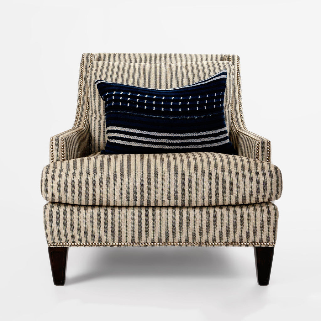 Ticking Striped Chair