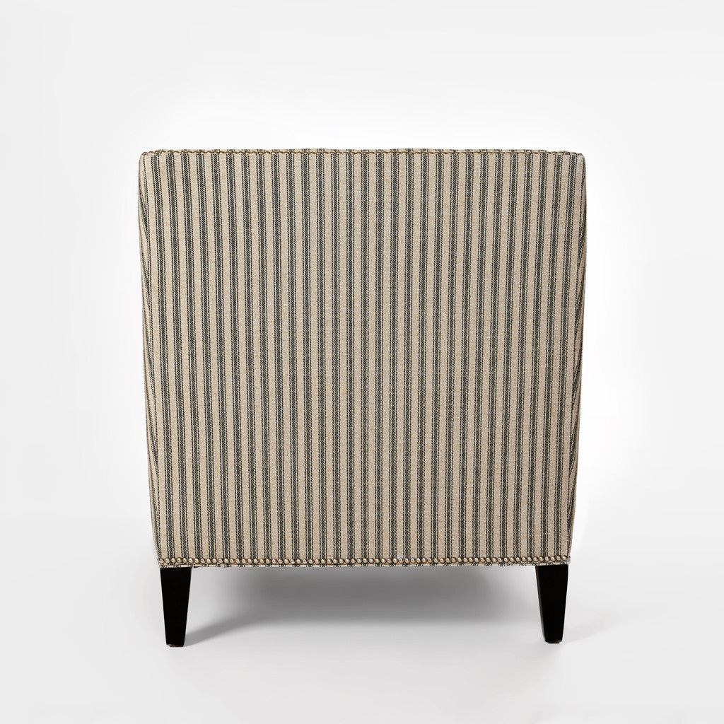 Ticking Striped Chair-4
