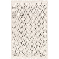Black & White Diamond Rug 5'-0