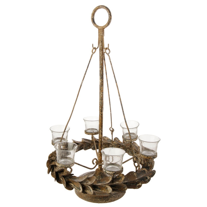 Tea Light Candelabra - Dark Distressed