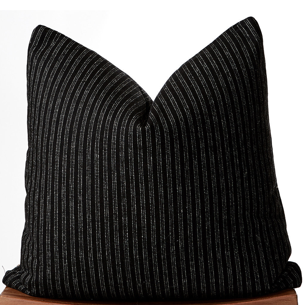 Black Pin Striped Pillow